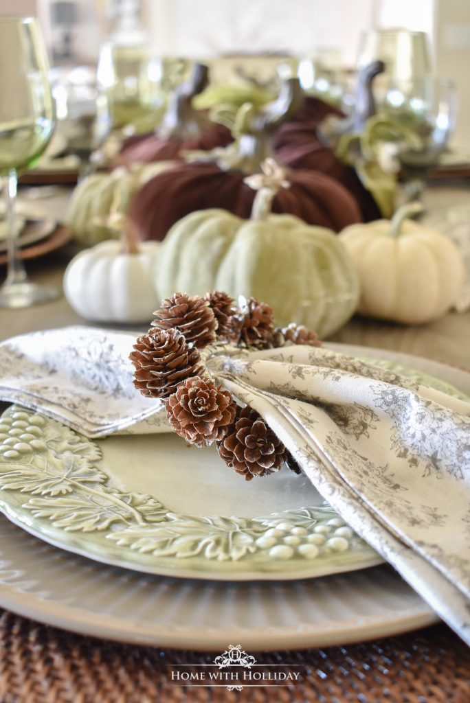 Rustic Pumpkin Fall Tablescape Place Setting - Home with Holliday