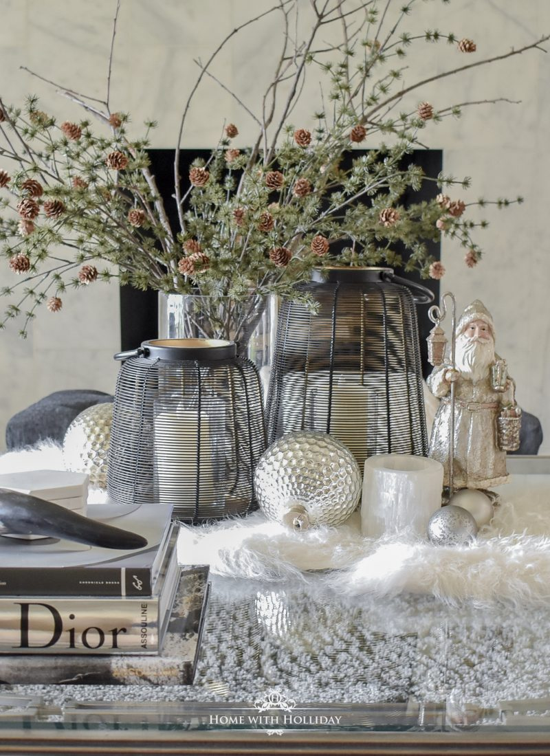 How I am Transitioning Decor from Fall to Christmas on my Coffee Table