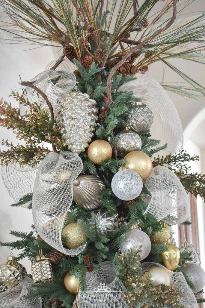 Topper for our Mixed Metallic Woodland Christmas Tree - Home with Holliday