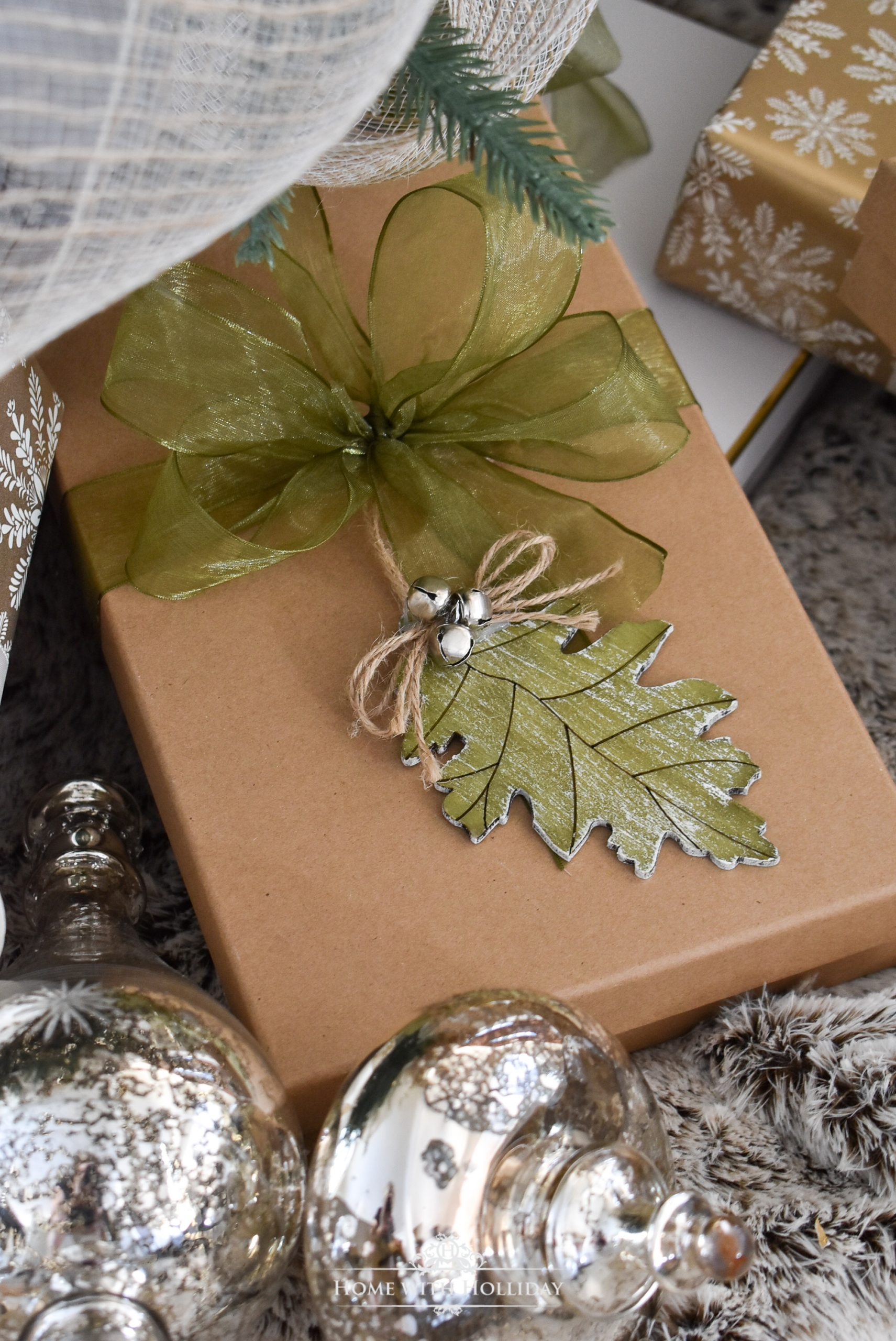 Gift wrapping for my Mixed Metallic Woodland Christmas Tree - Home with Holliday