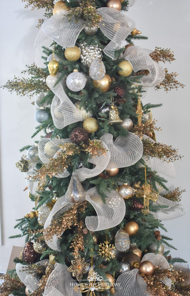 Elegant Mixed Metallic Woodland Christmas Tree - Home with Holliday