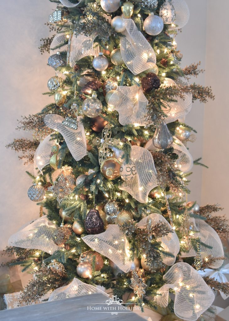 Mixed Metallic Woodland Christmas Tree - Home with Holliday