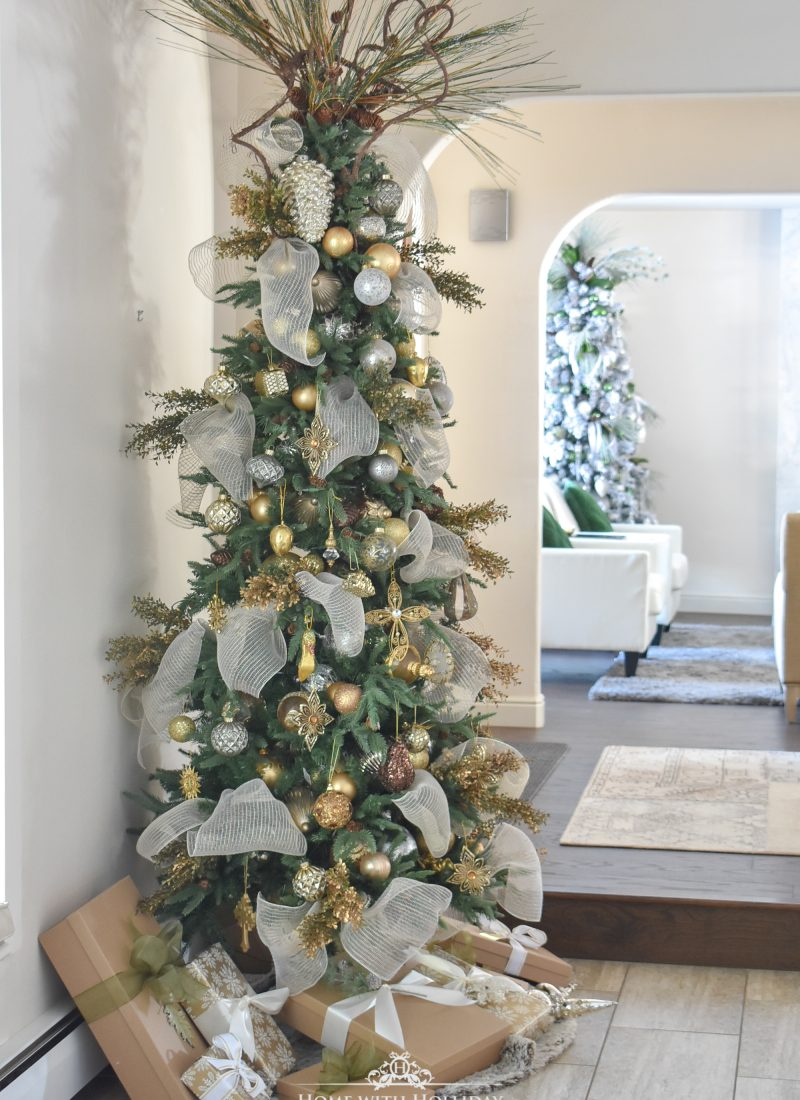 Mixed Metallic Woodland Christmas Tree