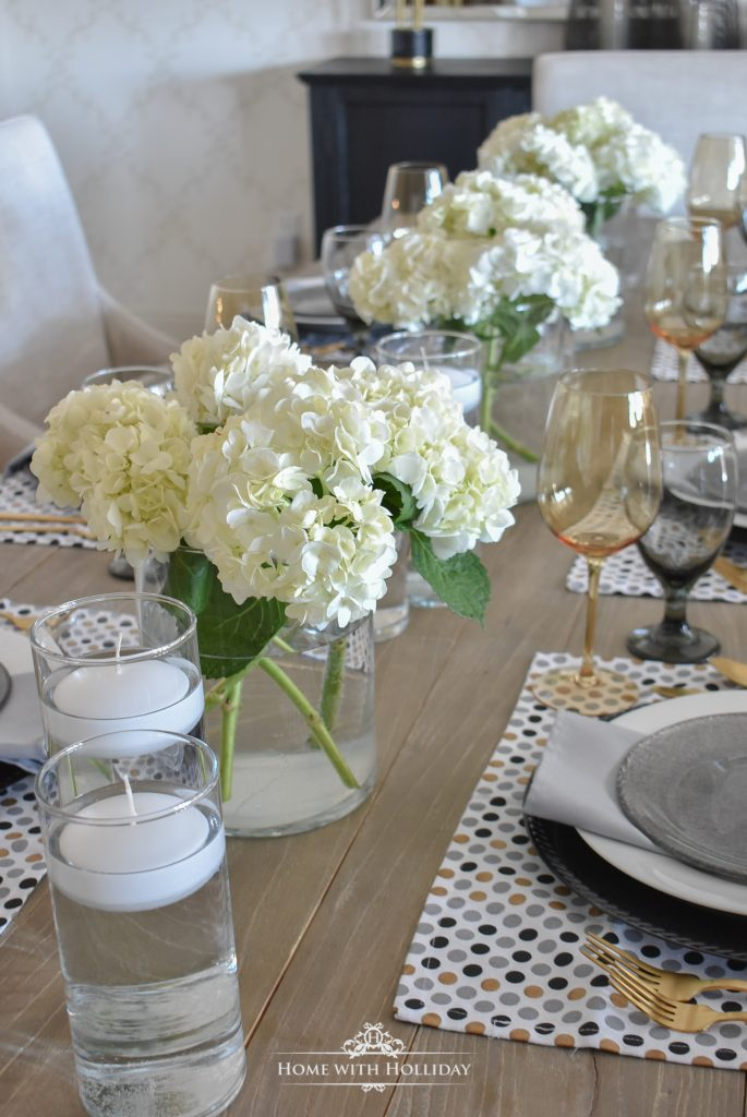 Easy and Elegant Inexpensive Hydrangea Centerpiece - Home with Holliday