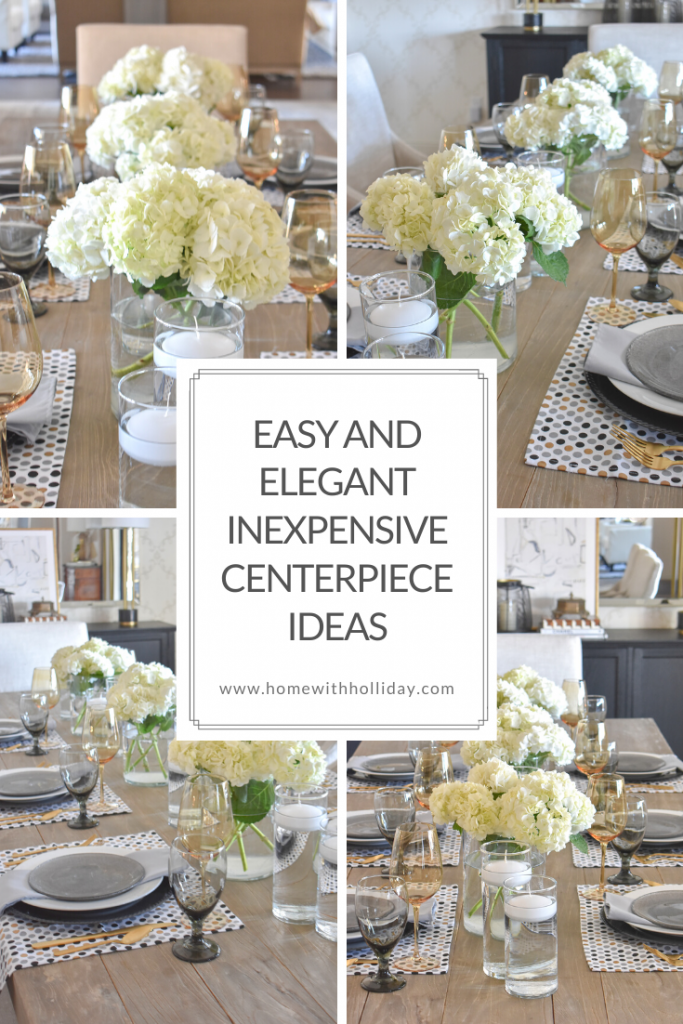 Easy and Elegant Inexpensive Centerpiece Ideas - Home with Holliday