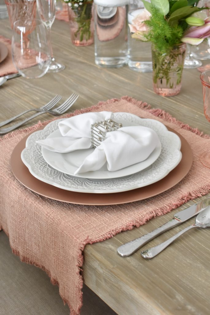 My Blush Pink and White Valentine's Day Tablescape - Home with Holliday
