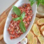 Mediterranean Tomato Bruschetta Appetizer - Home with Holliday