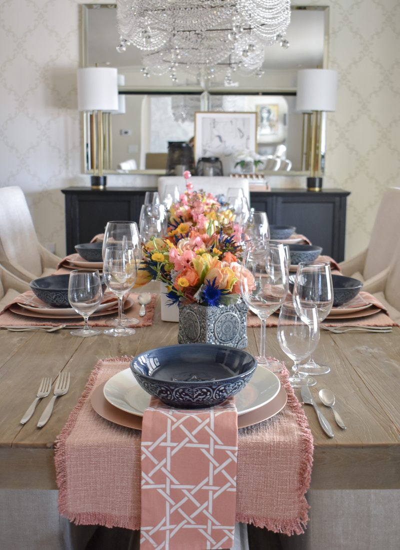 Blush PInk and Green Easter Tablescape Inspiration - Home with Holliday