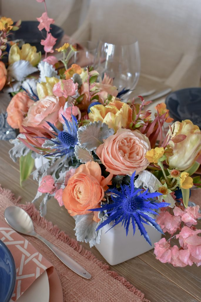 Flowers for our Blush Pink and Blue Spring Tablescape - Home with Holliday