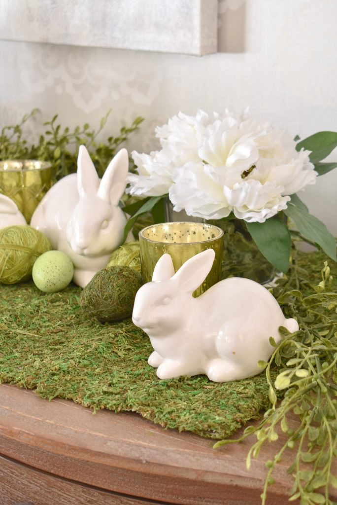 Some Simple Green and White Easter Decorating Ideas - Home with Holliday