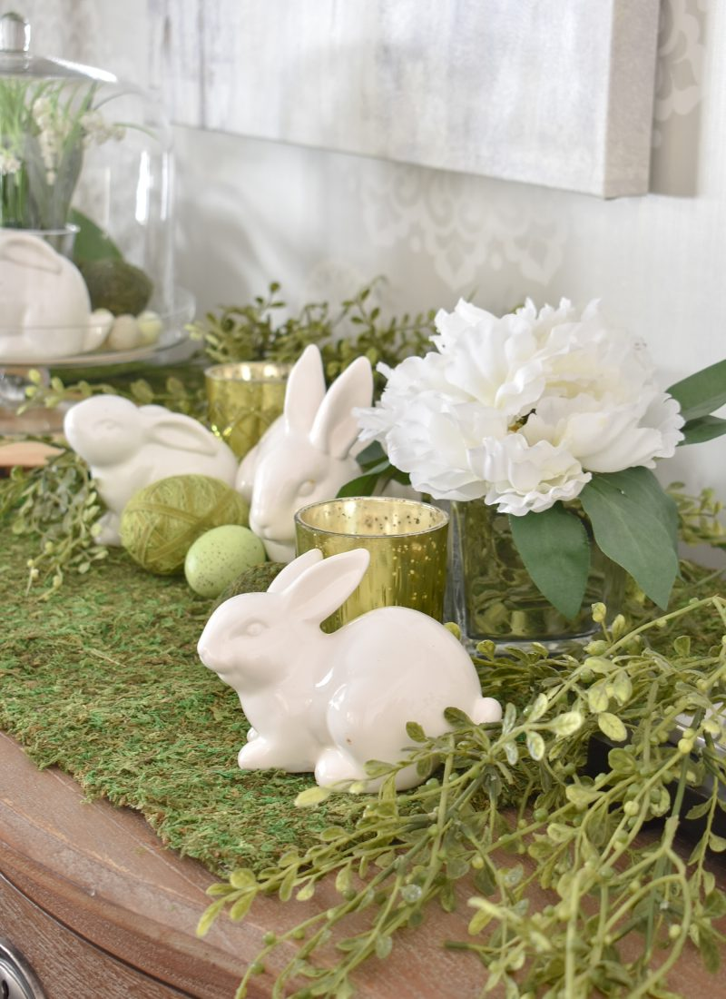 Simple Green and White Easter Decorating Ideas - Home with Holliday