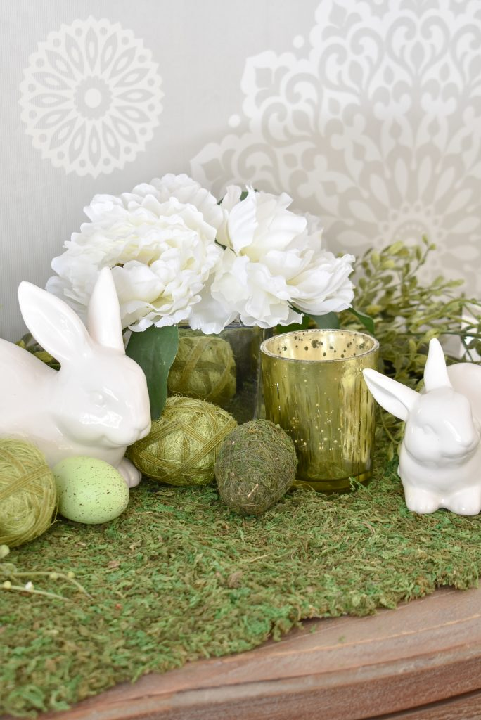 Cute and Simple Green and White Easter Decorating Ideas - Home with Holliday