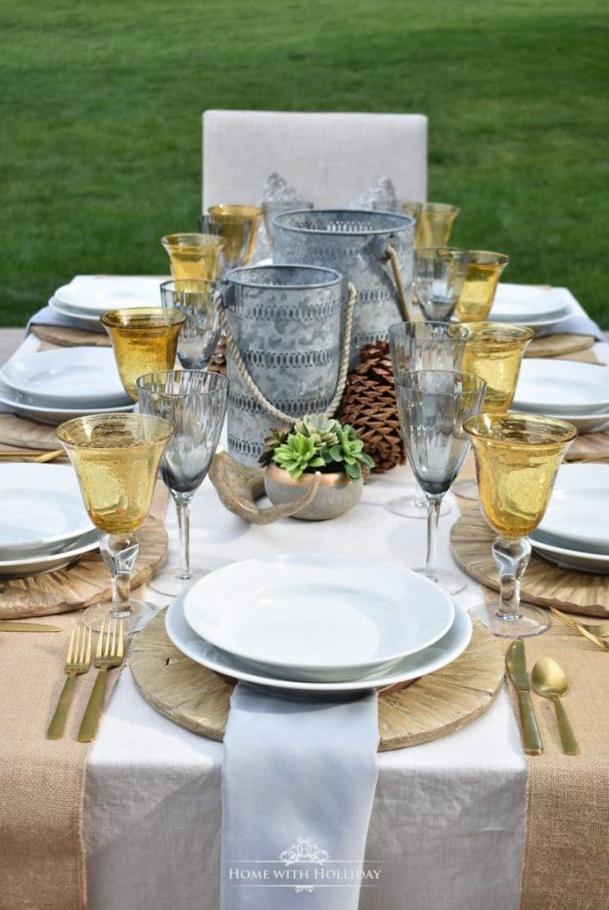 Rustic Alfresco Dining Ideas - Home with Holliday