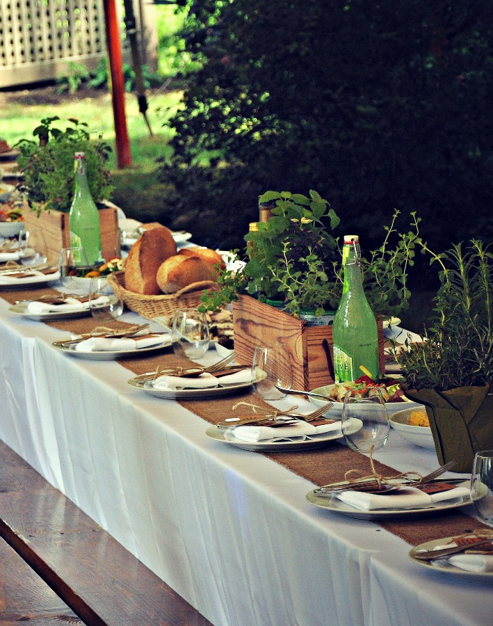 Alfresco Dining Ideas with Herbs - Home with Holliday