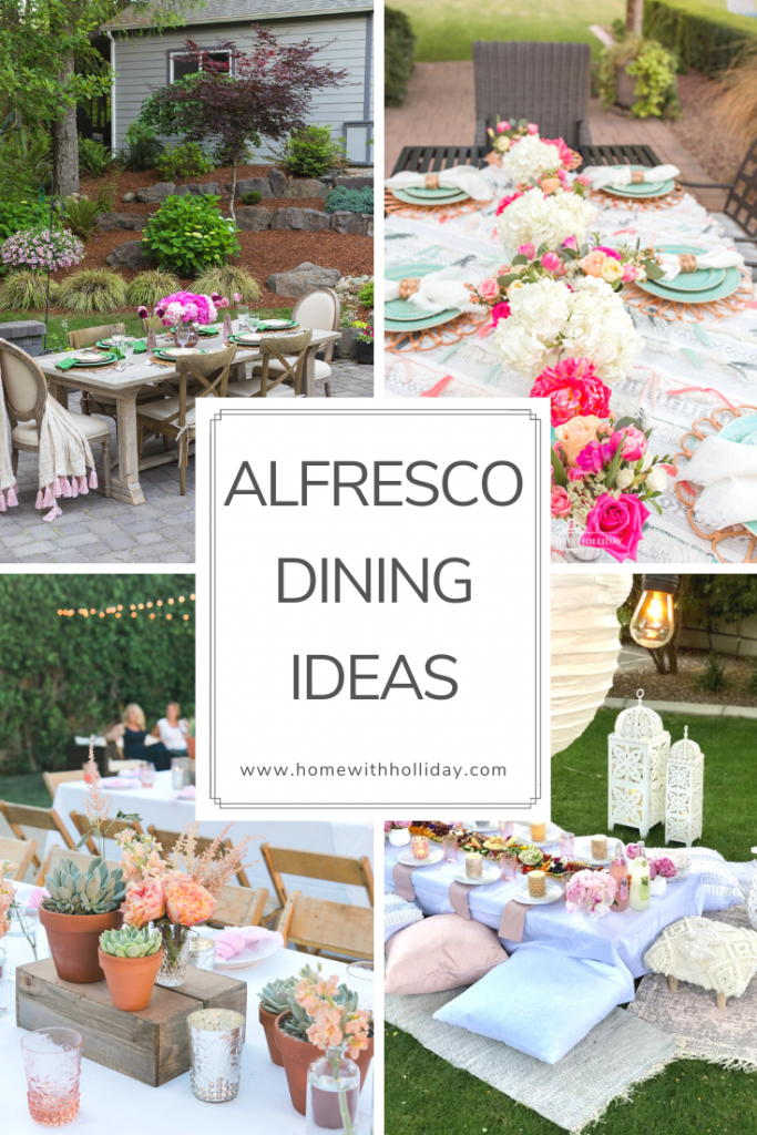 Many Alfresco Dining Ideas - Home with Holliday