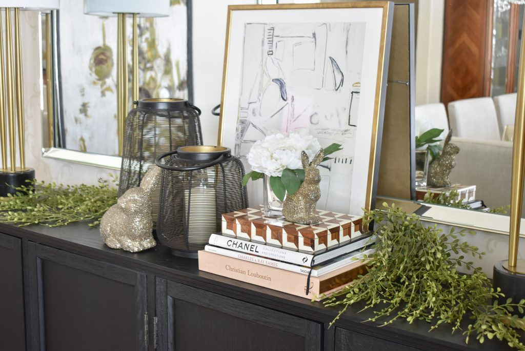 Contemporary Simple Green and White Easter Décor Ideas - Home with Holliday