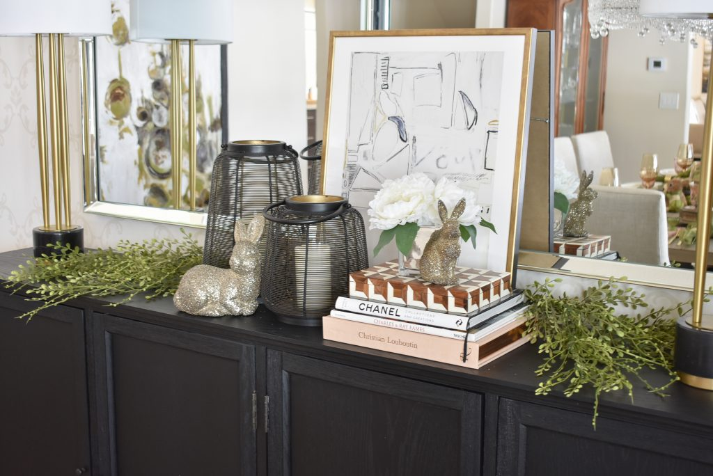 Our Contemporary Simple Green and White Easter Décor - Home with Holliday