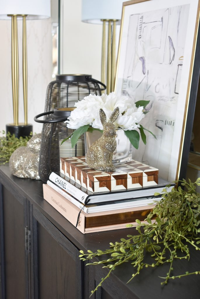 Contemporary Simple Green and White Easter Décor - Home with Holliday