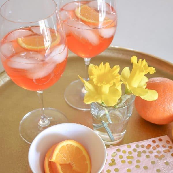 Sparkling Rose Aperol Spritz