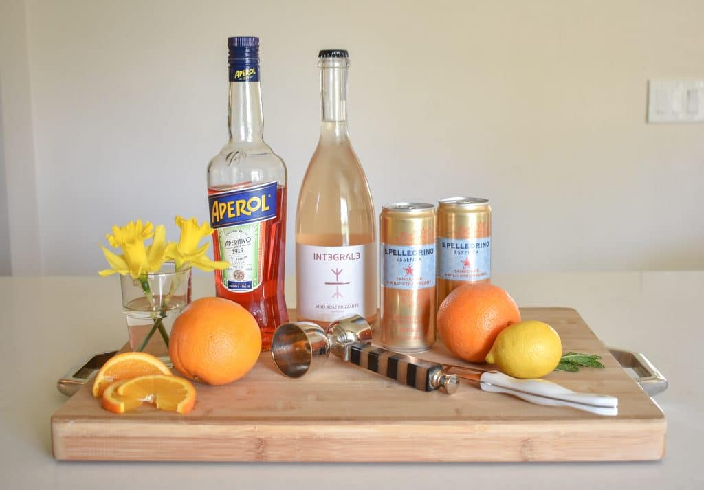 Sparkling Rose Aperol Spritz Ingredients - Home with Holliday
