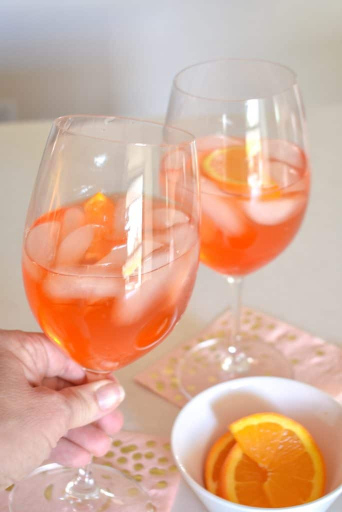 Sparkling Rose Aperol Spritz - Home with Holliday