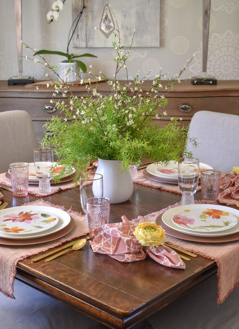 A Spring Tablescape for Mother's Day - Home with Holliday