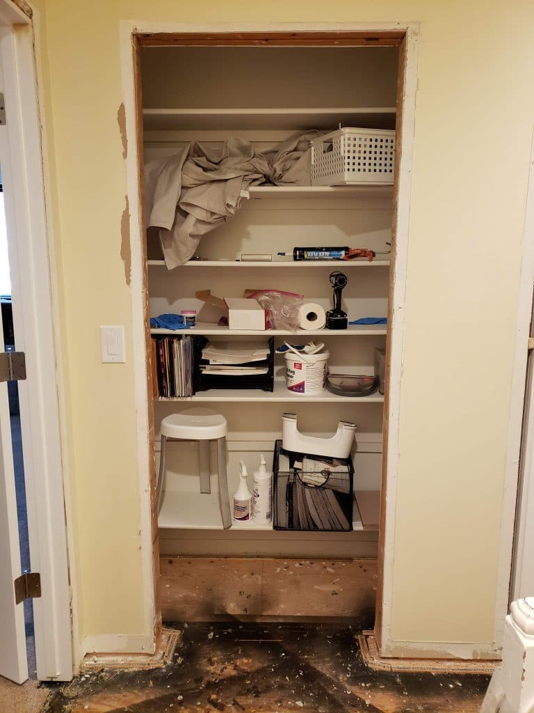 Ways to Repurpose a Closet BEFORE photos - Home with Holliday