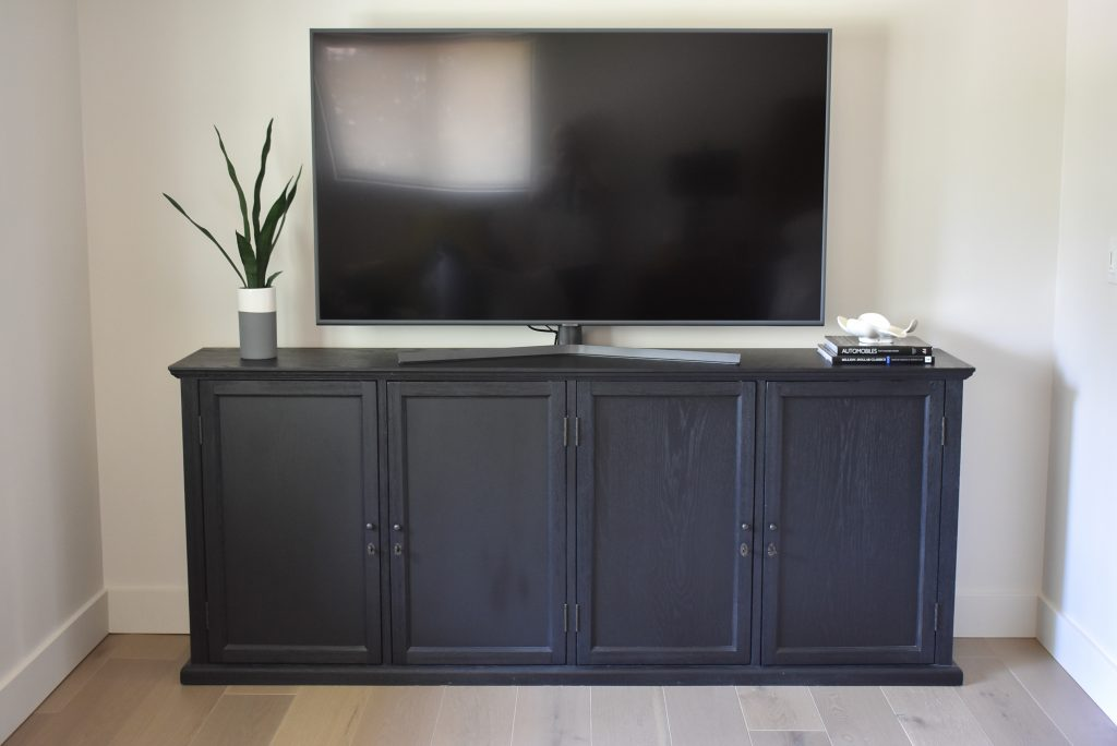 Black Sideboard used underneath a TV