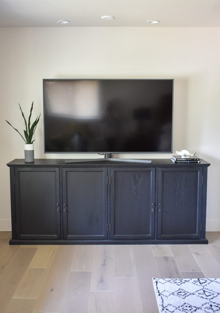 Black Buffet with TV for more storage