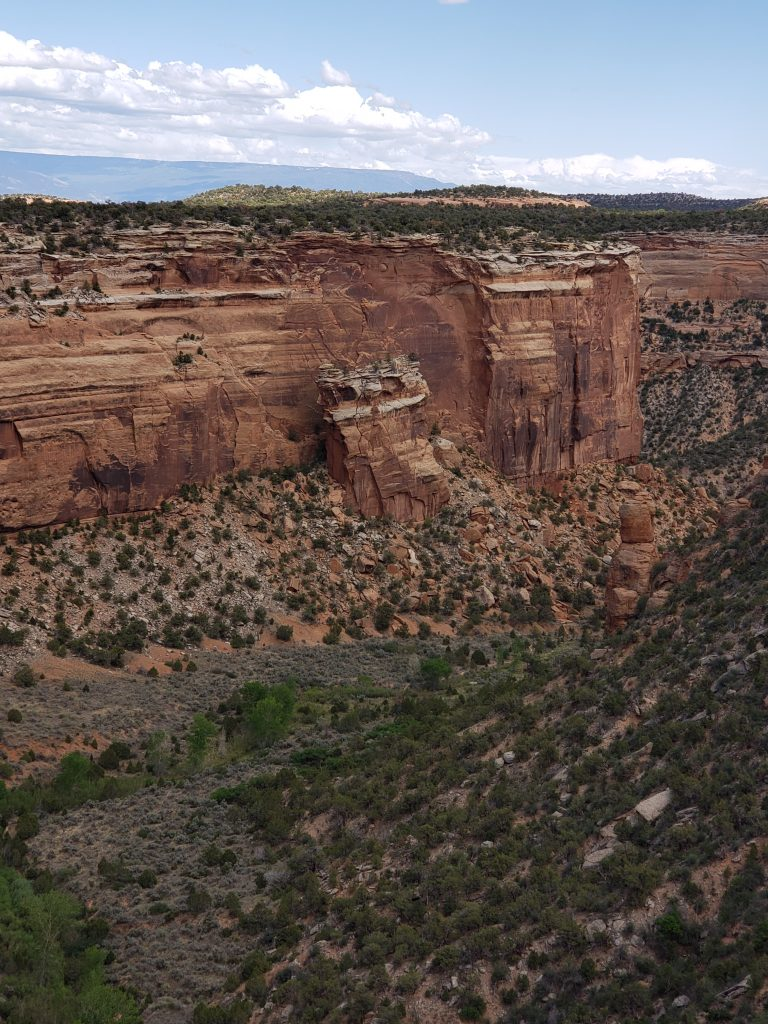 View of the rock formations in Grand Junction, CO