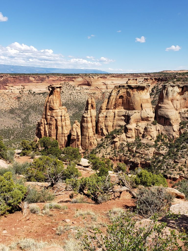 A view of the Colorado National Monument in Grand Junction, Colorado