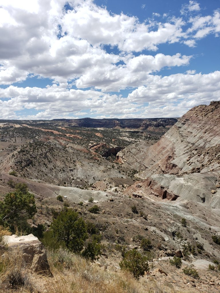 View of the canyons in Grand Junction, CO