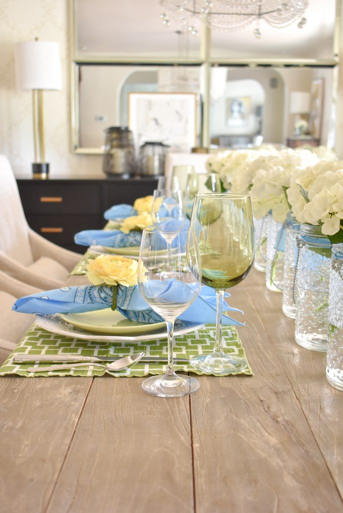 Glassware for a simple and bright summer tablescape