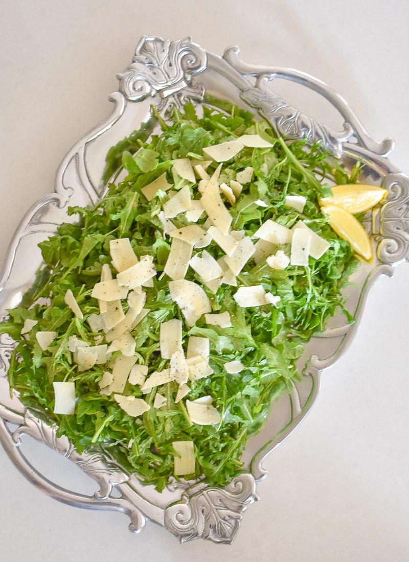 Simple Arugula Salad with Lemon Vinaigrette Dressing