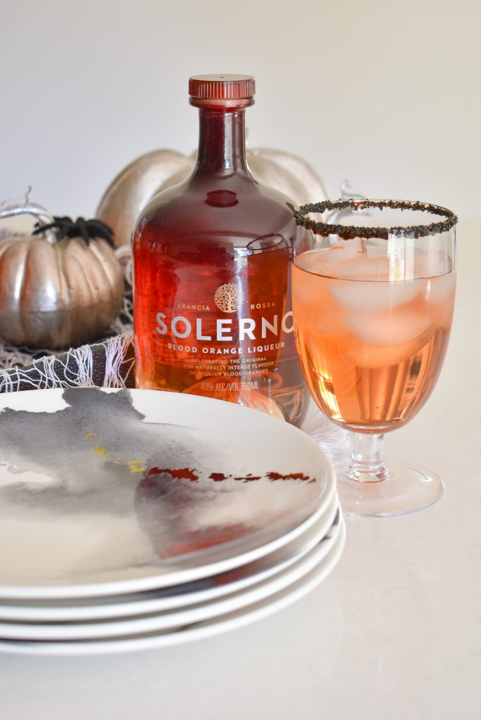 Blood Orange and Vodka Cocktail Recipe for Halloween
