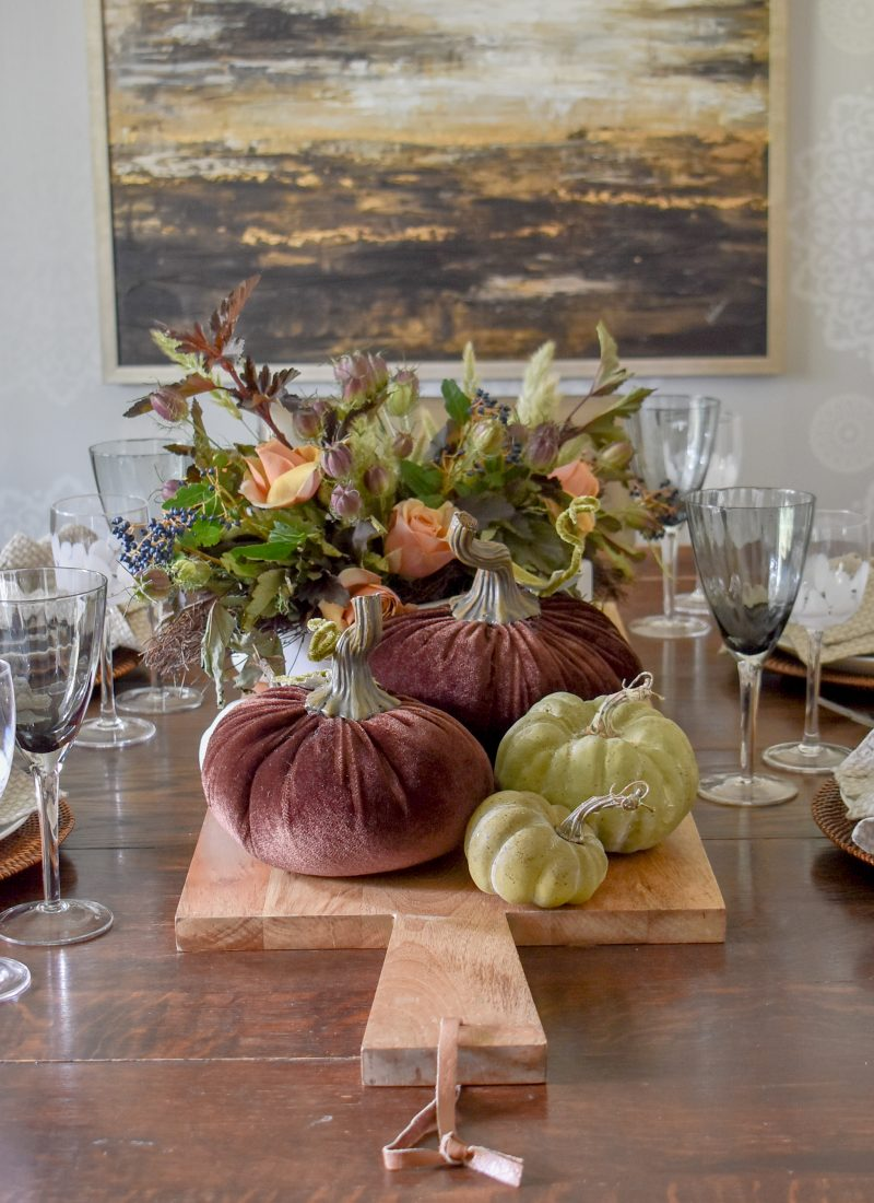 Rustic Fall Tablescape with Pumpkins