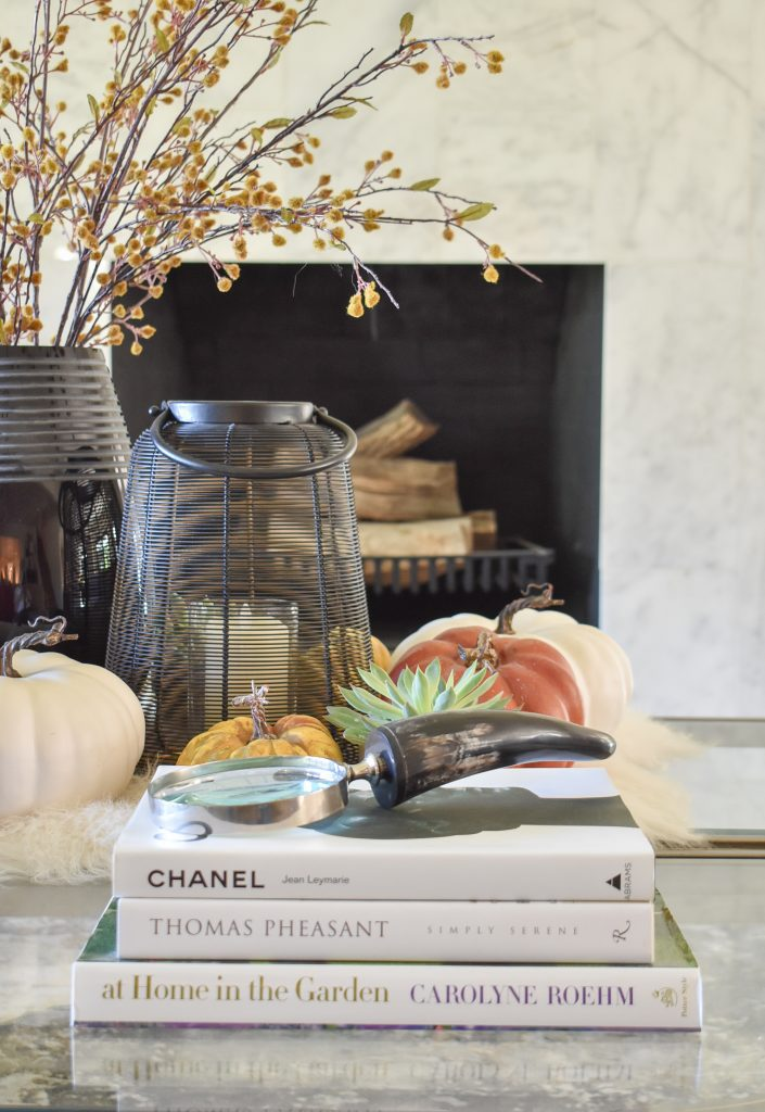 Warm and Cozy Coffee Table Styling for Fall with coffee table books
