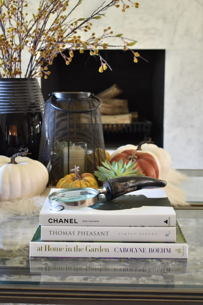 Warm and Cozy Coffee Table Styling for Fall with home accents