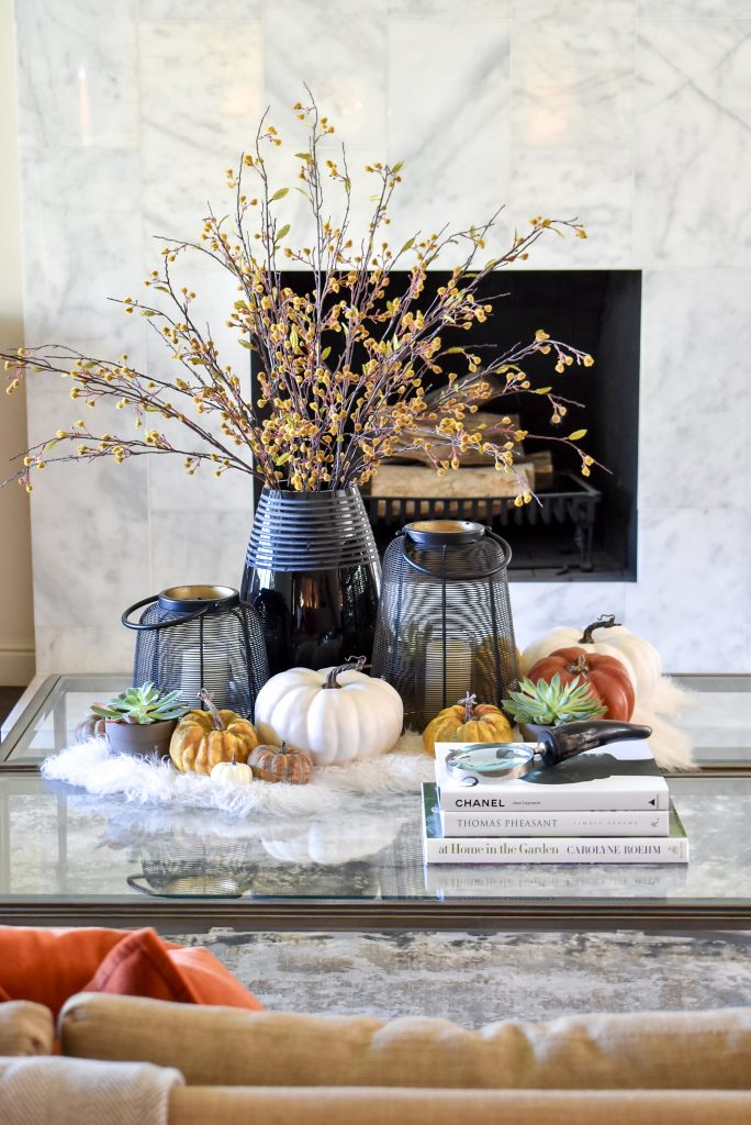 Warm and Cozy Coffee Table Styling for Fall