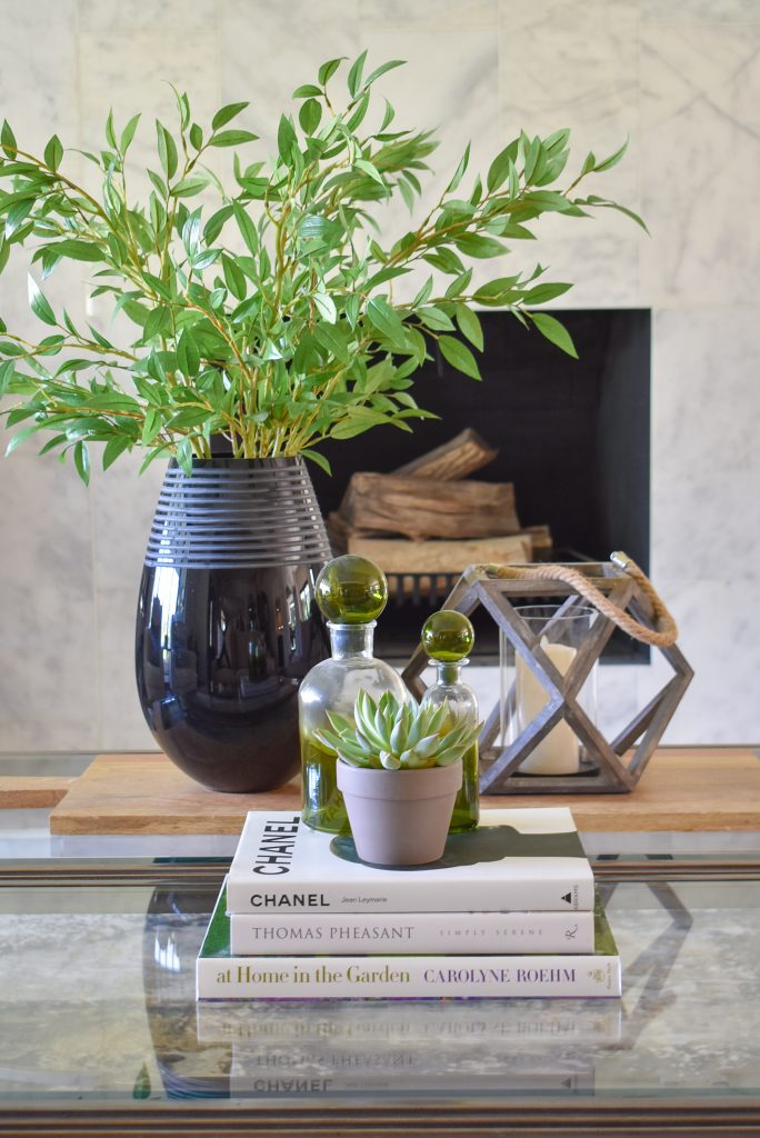 Warm and Cozy Coffee Table Styling for Fall BEFORE