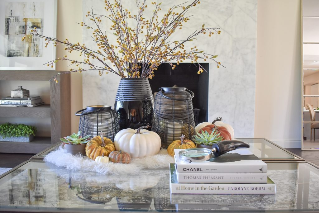 Ideas for Contemporary Warm and Cozy Coffee Table Styling for Fall