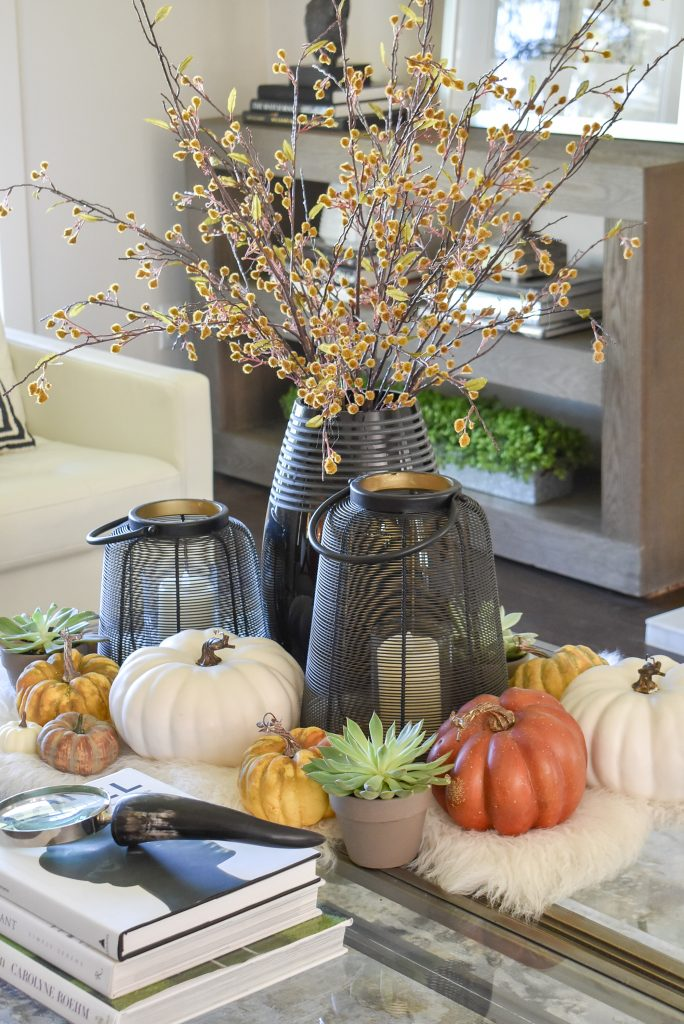 Warm and Cozy Coffee Table Styling for Fall with Candles