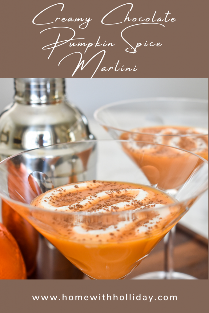 A Creamy Chocolate Pumpkin Spice Martini