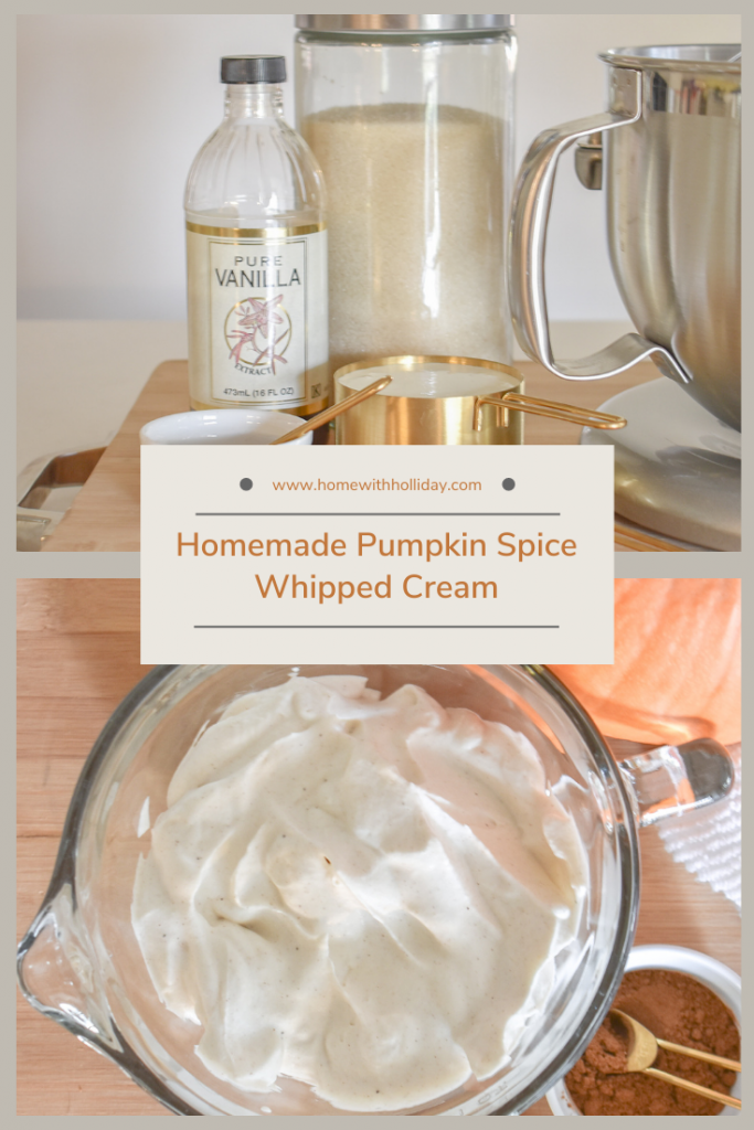 Images of a Homemade Pumpkin Spice Whipped Cream