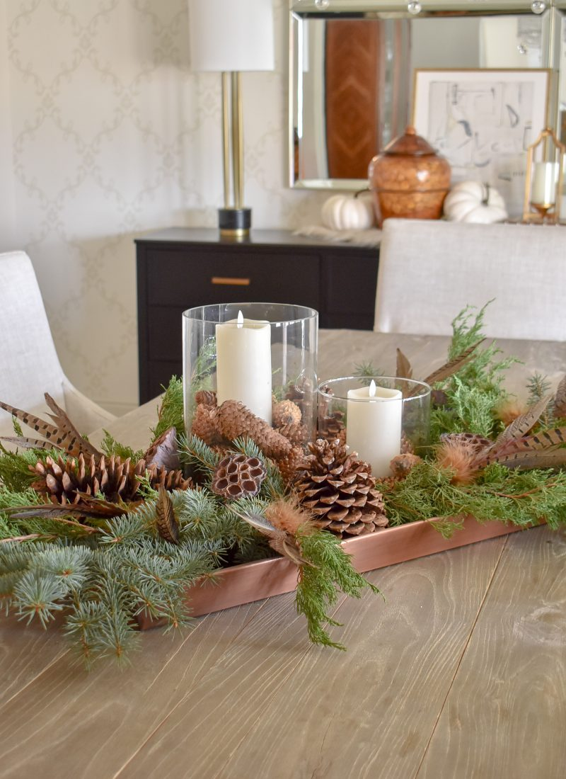 Easy and Budget-friendly Natural Fall Centerpiece
