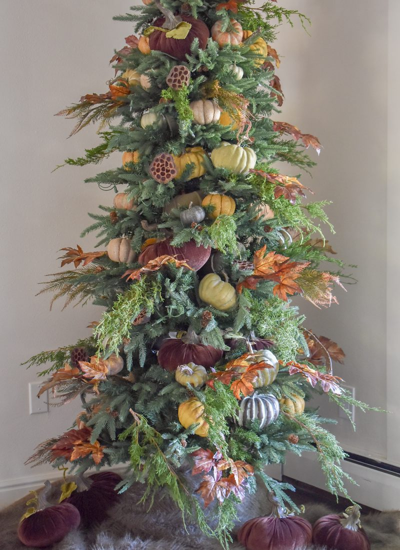 Ideas for Christmas Trees Decorated for Thanksgiving