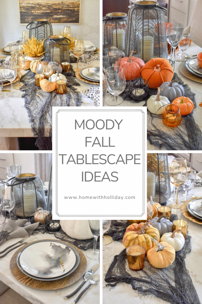Collage of Moody Fall Tablescape Ideas