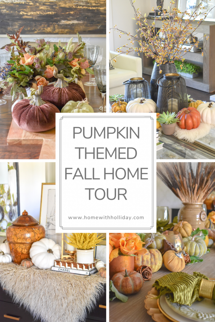 Collage of a Pumpkin Themed Fall Home Tour