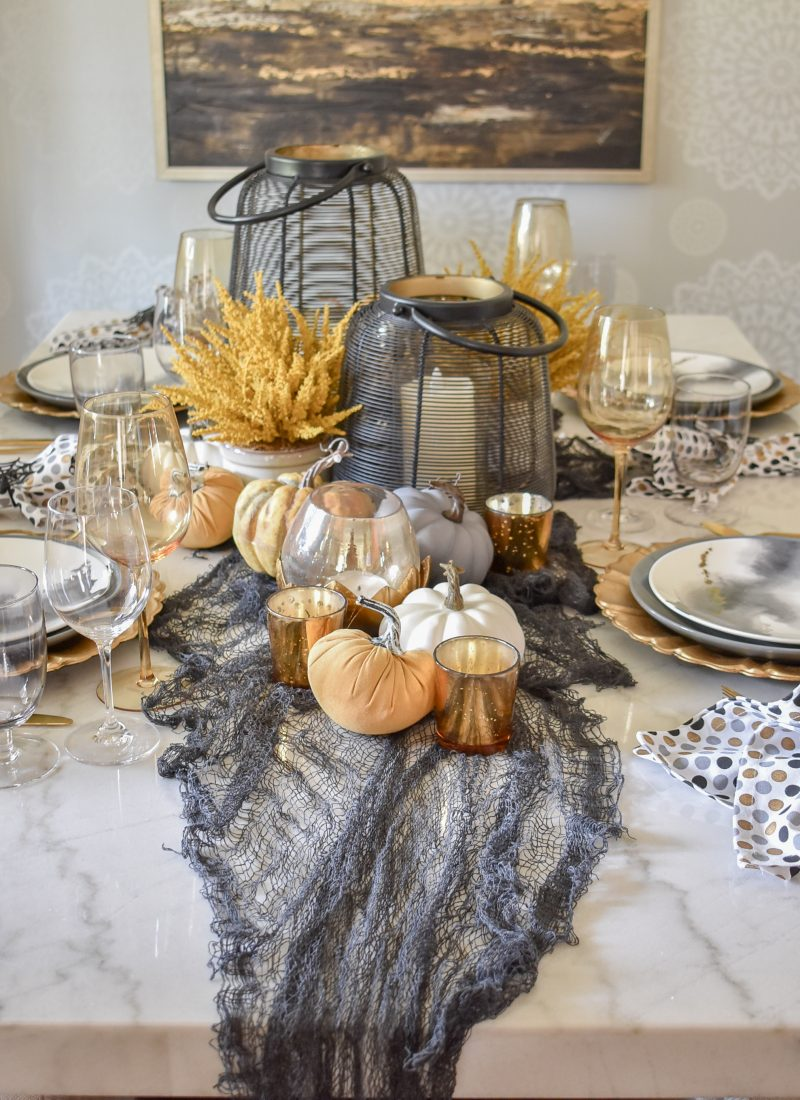 Simple Moody Fall Tablescape Ideas