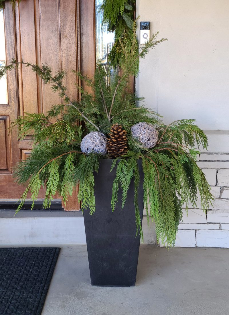How to Decorate for Christmas with Fresh Evergreens